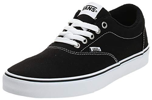 Vans Herren MN Doheny Sneaker, Schwarz ((Canvas) Black/White 187), 42.5 EU