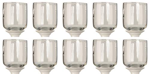 Novaliv 10X Teelichtaufsatz I klar 10 cm Glasaufsatz für Kerzenständer I Kerzenleuchter Glas Adventskranz Teelichthalter Stabkerzenhalter Kerzenpick