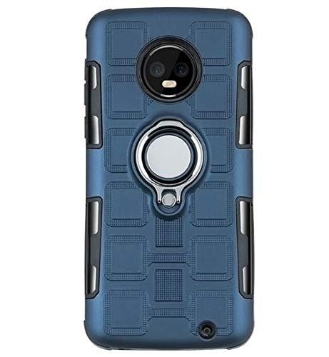 NANXCYR Für Motorola Moto G5SPLUS / G4 / G4 Plus / E4 / E4 Plus / G5 / G5 Plus / G5S Fall, 2 in 1 TPU PC Kasten Invisible Ring Anti-Fall-Abdeckung, für MotoG6 / G6PLUS,Natural,MotoG4/G4PLUS