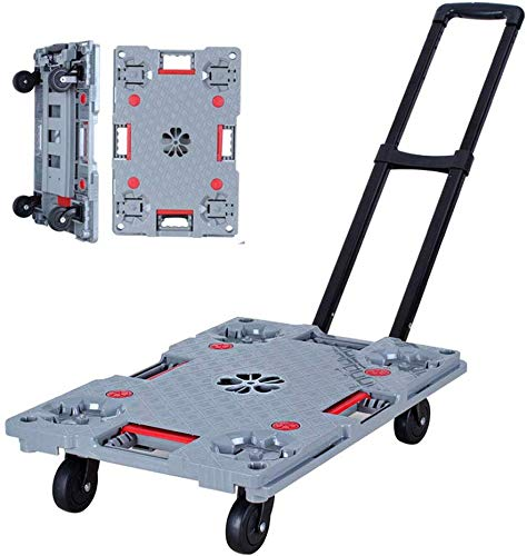 ZJZ Platform vrachtwagen, Platform trolley Home trolley Handrail truck Bewegende naaiwagen Kan dragen 100 kg