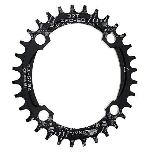 CYSKY 32T Oval Schmale Breite Kettenblatt 104BCD Bike Speed Kettenblatt für die meisten Fahrrad Rennrad Mountainbike BMX MTB (32T)