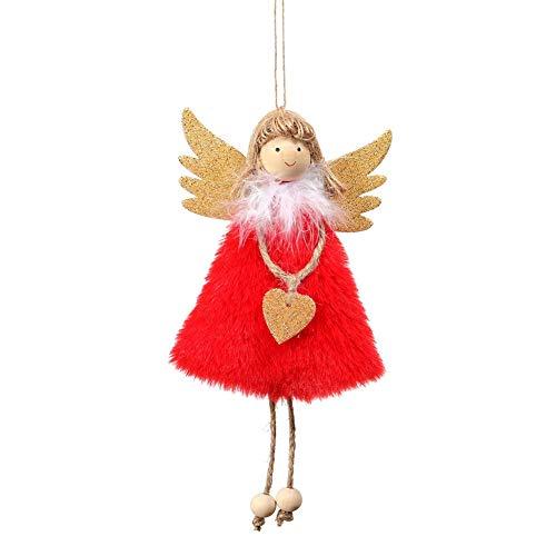 Maxte Bonita muñeca de peluche para colgar de Navidad, decoración para fiestas en el hogar