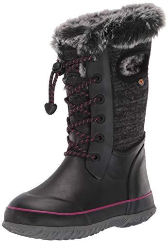 BOGS Arcata Knit Insulated Winter Waterproof Snow Boot, Black Multi, 5 US Unisex Big Kid