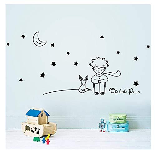 Junecake Stars Moon The Little Prince Boy Wall Sticker, Mural de calcomanías de arte, Home Kitchen Artwork Wall Stickers