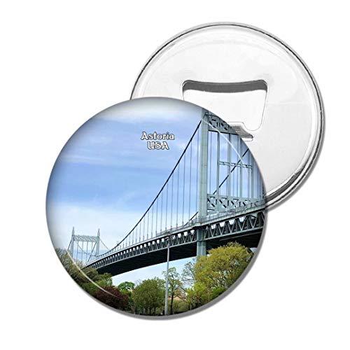 Weekino USA Amérique Astoria Park Bridge Bière Ouvre-Bouteille Aimant De Réfrigérateur Voyage Souvenir Autocollant de réfrigérateur Fort