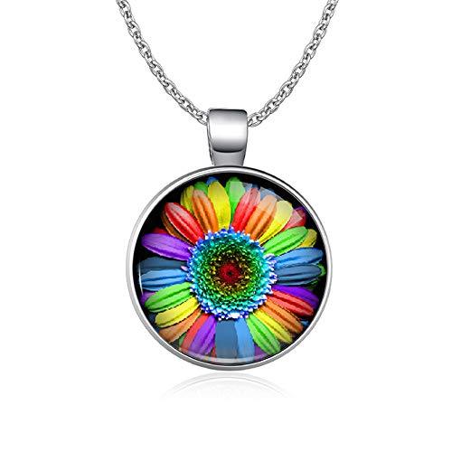 TUDUDU Rainbow Infinity Love GANA Corazón GLBT para Lesbianas Gays Bisexuales Transgénero Hombres LGBT Derechos Collares para Mujeres
