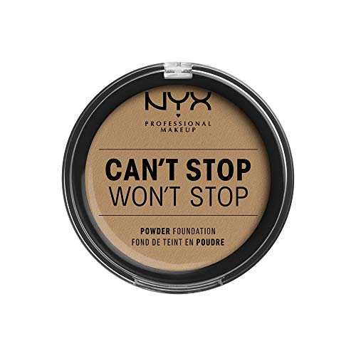 NYX Professional Makeup(ニックス プロフェッショナル メイクアップ) キャントストップ ウォントストップ フルカバレッジ パウダー ファンデーション 15 カラー・キャラメル 10.7g