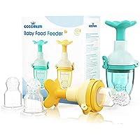 2-Pack Eccomum Fresh Fruit Baby Teething Feeder Toy Nipple + 4 Pacifiers