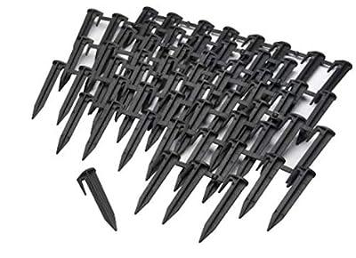 "Worx WA0185 Landroid 3"" Lawn Stake Kit for Boundary Wire Installation,Black"