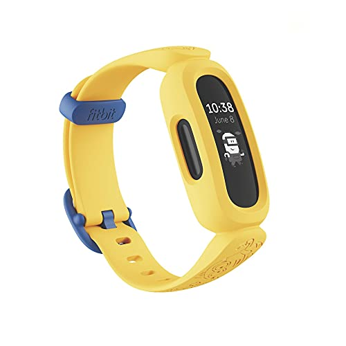 Fitbit Ace 3 Activity Tracker for Kids 6+, Minions Special Edition, Yellow, One Size