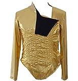 for Michael Jackson Costume Smooth Criminal Armband Suit Jacket Dance (Kids XL) White