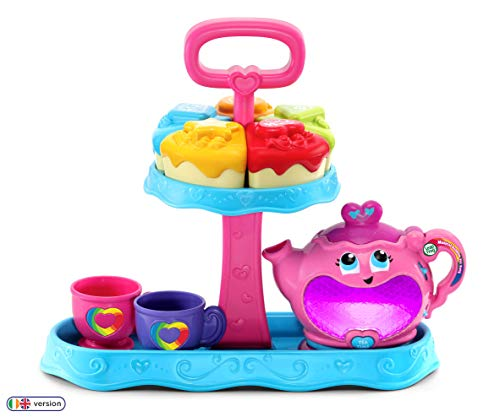 LeapFrog 603203 Musical Rainbow Party Learning Toy and Pretend Play Educational Tea Set for Children with Shape Sorter, Lights and Songs, Multi-Colour