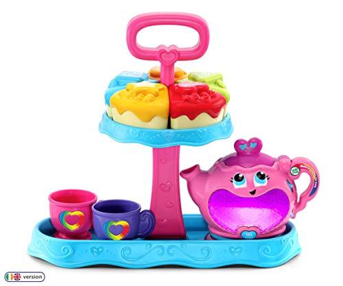LeapFrog- Musical Rainbow Tea Party Juego de té Educativo para niños con clasificador de Formas, Luces y Canciones, Multicolor, Talla única (Vtech Electronics 603203)
