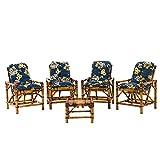 Jogo De Sofá De Bambu Poltronas Cadeira De Vime, para ára, varanda, edícula, sacada, área gourmet, artesanal 0233