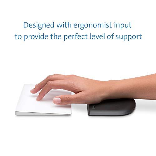 Kensington ErgoSoft Handgelenkauflage für schlanke Mäuse und Trackpads, Ergonomisches und einzigartiges Design, Ideal für MacBook, iMac, Surface, Destop Computer, Schwarz, K52803EU