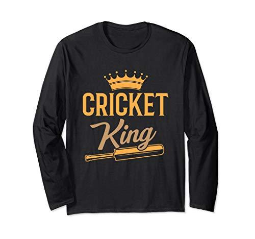 Cricket King Bat Jersey India Sport Player Coach Gift Langarmshirt