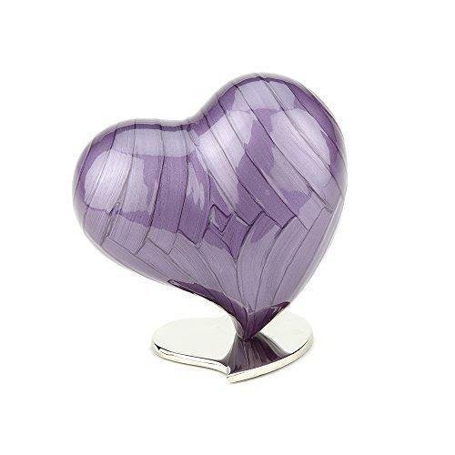 Urns UK Asche Urne, Herz, groß, Watford violett