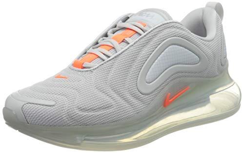 Nike Herren Air Max 720 Laufschuh, Pure Platinum/Hyper Crimson, 40.5 EU