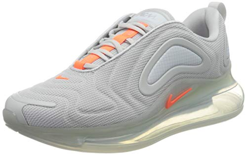 Nike Herren Air Max 720 Laufschuh, Pure Platinum/Hyper Crimson, 42.5 EU