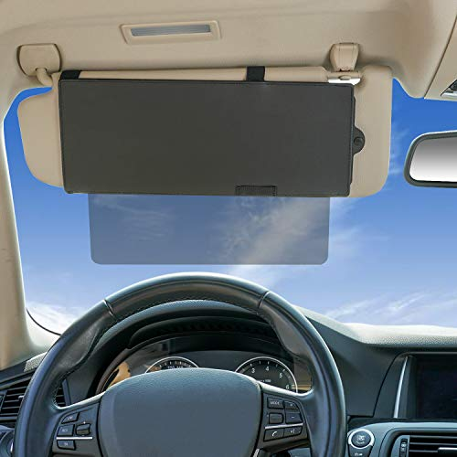 Car Visor Extender WANPOOL Visor Sunshade Extender with See Through Piece to Pull Downward