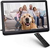 Digital Photo Frame 8 inch FHD, Fambrow Digital Picture Frame 1920x1080 Full IPS Display with Photo/Music/Video Player/Calendar/Alarm, Brightness Adjustable Electronic Photo Frame with Remote Control