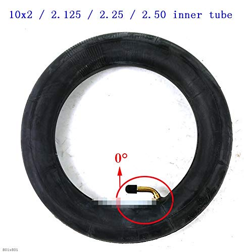 Without brand 10x2 /2.125/2.25/2.50 Butyl Rubber Schlauch for Tricycle Bike Schwinn Kids 3-Rad-Kinderwagen-Roller-Balancing Hoverboard (Farbe : 0 Degree Angle)