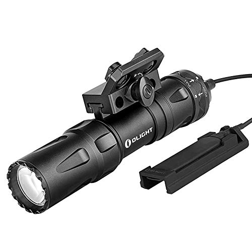OLIGHT Odin Mini Weapon Light Max 1250 Lumens Rechargeable Tactical Flashlight Equipped with Removable Slide Rail Mount Gun Light Powered by 18500 Battery Pistol Torch Mlok Mount Included Black