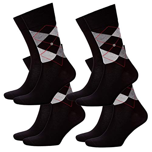 Burlington Herren Socken Everyday Mix 8er Pack , Größe:40-46;Farbe:Black (3000)