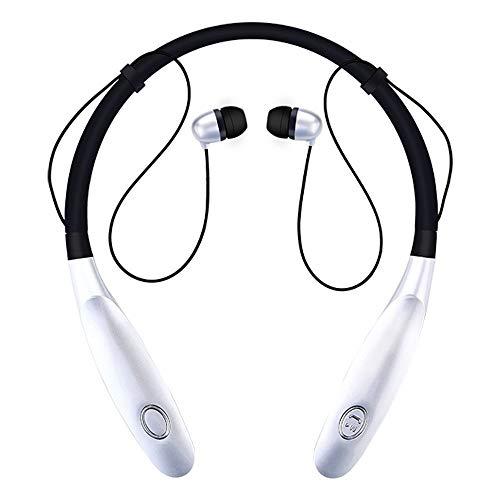 Auricolari Bluetooth Magnetiche 4.1 - cuffie Sportivi Wireless running - Auricolari bluetooth con microfono - HI-FI per iPhone iPad Android Samsung Galaxy PC, Sony (nero)