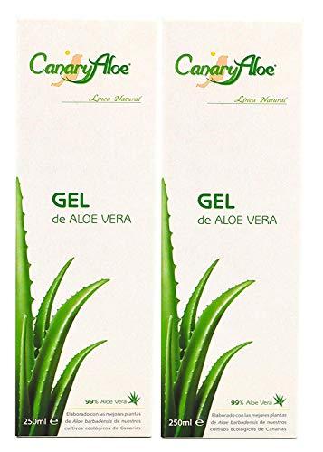 Canaryaloe Aloe Vera Gel 99% 250ml kaltgepresst von Fuerteventura x 2 Einheiten