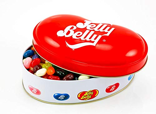 Jelly Belly Gift Tin filled with jelly beans, 250g.