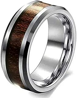 Unisex Wedding Ring of Jewelry Set with Wood