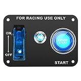 "Interruptor Redondo 5 Pack 3//4/"" orificio de montaje 16 Amp 12V 3 Pin alternancia de LED azul"