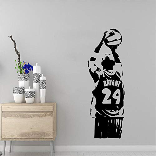 Pegatinas de pared deportivas removibles de vinilo Peguera de baloncesto Pegatinas de pared deportivas Decoración para el hogar Calcomanías SPORTS STAR 42X124CM