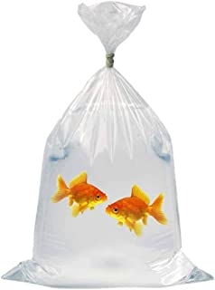 APQ Pack of 100 Plastic Fish Bags 6 x 12. Clear Polyethylene Bags 6x12. FDA, USDA Approved, 2 mil. Fish Transport Bags for Storing and Transporting. Ideal for Industrial, Healthcare, Food Service.