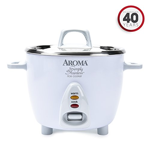 Aroma Housewares Simply Stainless 14-Cup (Cooked)  (7-Cup UNCOOKED) Rice Cooker, Stainless...