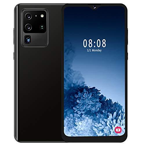 Ccylez Smartphone Desbloqueado S30U, Ranura para Tarjeta SIM Dual, teléfono Celular de 4 núcleos, Pantalla HD de 6.7', Tarjeta de Memoria 128G, teléfono móvil Android, cámaras de 8MP + 13MP(Negro)