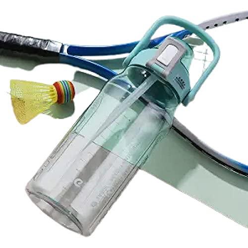 SDGSDG Protección del medio ambiente Botella deportiva sin BPA/Copa de agua portátil de gran capacidad-Green_2000ml/ Botella de agua deportiva para gimnasio, viajes, oficina y hogar