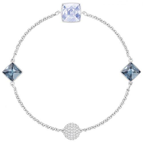 Pulsera Crystal Spike Remix baño en rodio piedras azules 5365761