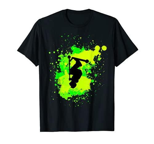 Cool Scooter Frontflip truco de truco para hombres de acrobacias Camiseta