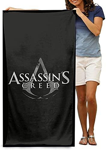 WFQTT Toalla de playa Assassins Creed Valhalla de microfibra, para piscina, camping, niñas, mujeres, hombres, (75 x 150 cm)