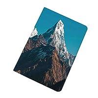 iPad Pro 9.7 ケース 2016 スマート アパートの装飾 ヒマラヤ山脈の写真雪に覆われたピークネパール南アジア自然風景写真 超スリム 軽量 スタンド 保護ケース バックカバー Apple iPad Pro 9.7 インチ(A1673 A1674 A1675) ホワイトブルーブラウン
