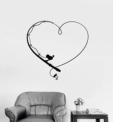 yaonuli Muurtattoo hengelstok Club vinyl sticker slaapkamer woonkamer huis decoratie muurschildering