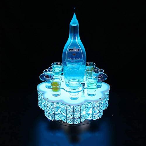 Clásico Estante del vino de Champagne Vino Titular LED parpadeante Los vidrios luminosos Copa Cerveza Copa de alto brillo de luz de la taza colorida for el partido, festival, discoteca, KTV