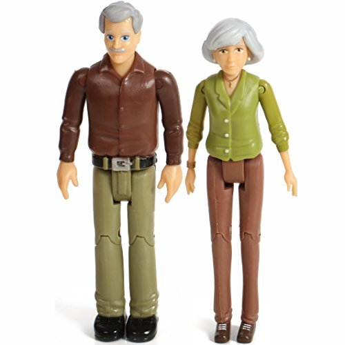 Beverly Hills Doll Collection TM Sweet Li'l Family Set of Grandparents Action Figure Set, Dollhouse People Grandma and Grandpa