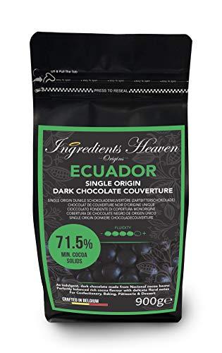 Ingredients Heaven - Ecuador 71,5% - Single Origin Dunkle Schokoladenkuvertüre (Zartbitterschokolade) - Single Origin Dark Chocolate Couverture - 900g