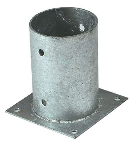 Aufschraubhülse 81 Pfostenhülse für runde Pfosten Ø 80 mm von Gartenpirat