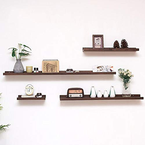 Wall Mounted Drijvende Planken Planken Picture Ledge Shelf, 4 Set Toon Rekken for de woonkamer 410