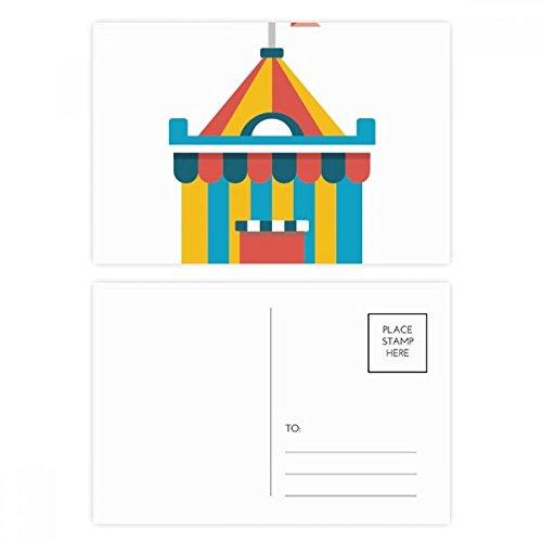 DIYthinker Erstaunlich Lustige Park Zelt Illustration Postkartenset Geburtstag dankt Karte Mailing Side 20pcs 5.7 Zoll x 3.8 Zoll Mehrfarbig