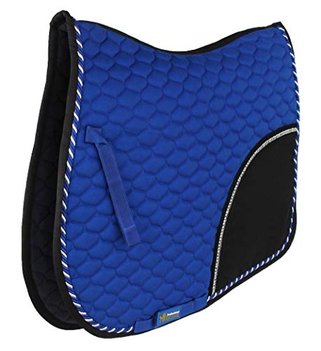 Professional Equine Horse Cotton Quilted All Purpose English Saddle PAD Trail Riding Dark Blue 72F10